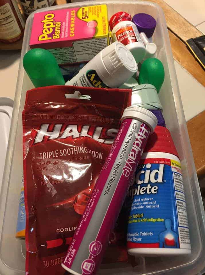 college student first aid kit