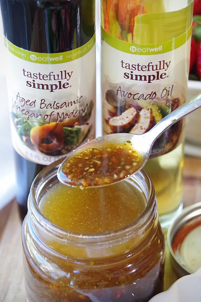 Orange Vinaigrette Dressing with Tastefully Simple Avocado Oil and Balsamic Vinegar
