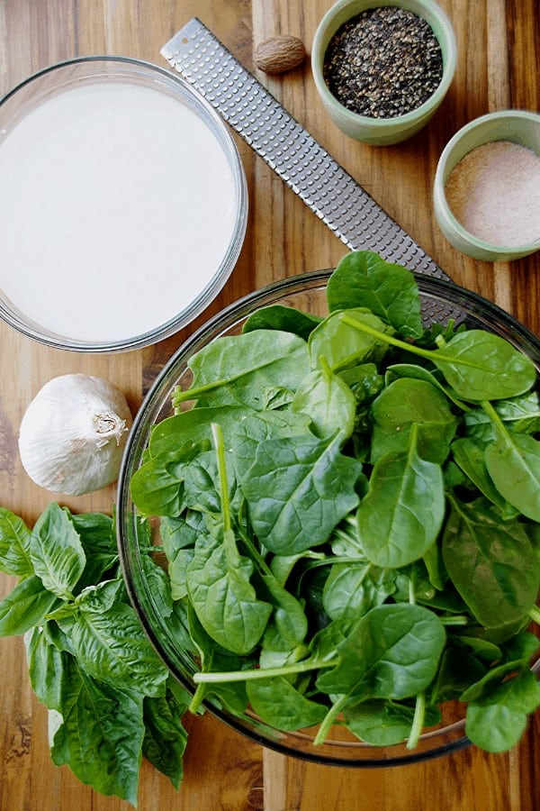 Spinach Pasta Sauce Ingredients