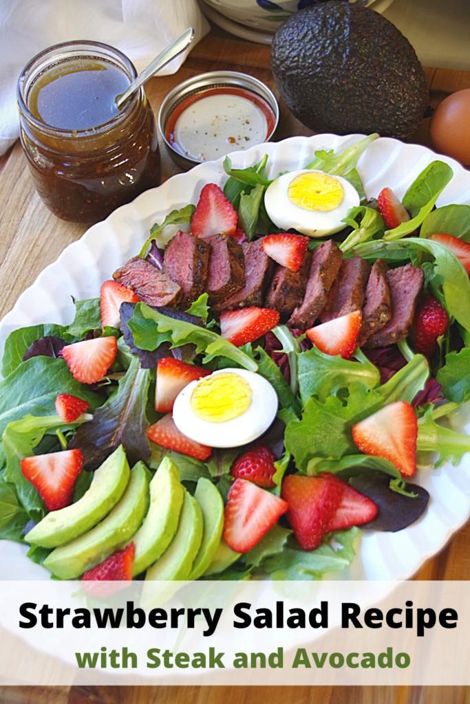 Strawberry Salad Recipe with Steak and Avocado