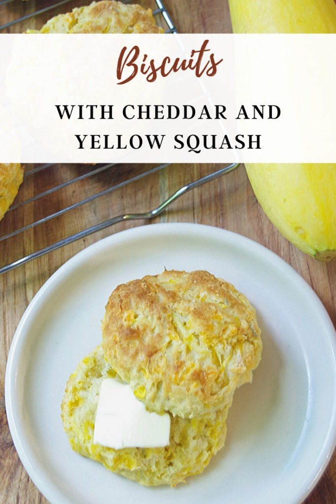 Biscuits with cheddar and yellow squash