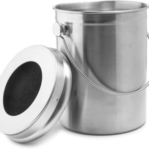EPICA Stainless Steel Compost Bin 1.3 Gallon- with Charcoal Filter